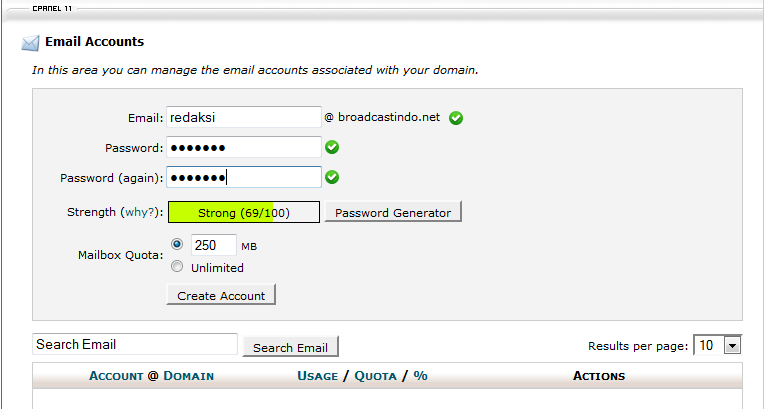 createmail_in_cpanel